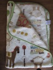 BeanSprout Bean Sprout Plush Farm Animals Cow Horse Chicks Lamb Baby Blanket EUC
