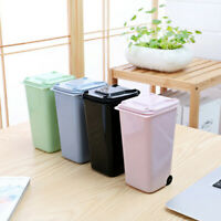 Desktops Mini Plastic Trash Can Storage Bin Desktop Organizer Pen Pencil Holder