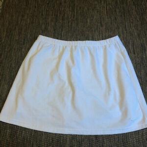 NIKE Dry-Fit Tennis Athletic Sport Skort All White Womens Size Medium 8-10