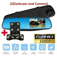 "4.3"" Car DVR Camera Dual Lens  Front and Rear View Mirror Auto Full HD 1080P"