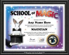 MAGIC School Personalized Certificate - Magician Kit Set Tricks XMAS CHILD GIFT