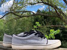 GAP Charcoal Gray Silver & Black Boat Deck Loafers Oxfords Shoes Men Sz 12 👣b8