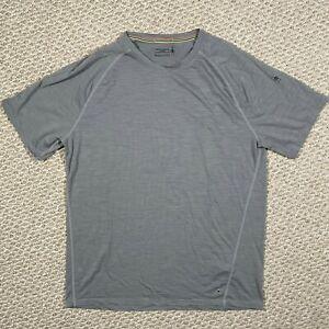 Smartwool Mens Merino 150 Base Layer Tshirt Short Sleeve Striped Gray Size Large