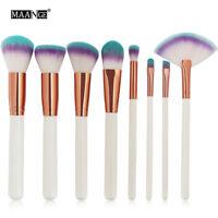 8Pcs Cosmetics Brush Foundation Powder Blush Eyeshdaow Makeup Brushes Set Beauty