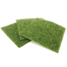 3Pcs Dollhouse Outdoor Emulational Grass Sod Miniature Turf Garden Landscape