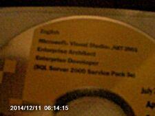 Microsoft Visual Studio .NET  2003 Enterprise Architect Enterprise Developer