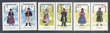 1964 Germany DDR GDR Regional Costumes, Pairs - 740a, 742a, 744a MNH*