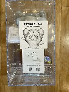 "KAWS: HOLIDAY UK United Kingdom ""Black"" 12 Inch Vinyl Figure New/Sealed DDTStore"