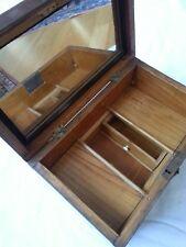 BIEDERMEIERSCHATULLE um 1830 furniert Spiegel Schublade