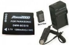 Battery + Charger for Panasonic DMC-ZS10K DMC-ZS10N