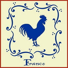 FRENCH  ROOSTER STENCIL - NEW! - The Artful Stencil
