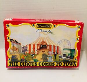 VINTAGE 1994 MATCHBOX DIE-CAST THE CIRCUS COMES TO TOWN 6 TRUCK SET