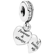 PANDORA 791524CZ My Beautiful Wife Dangle Charm