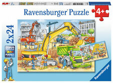 Ravensburger® 07800  Viel zu tun auf der Baustelle  2 x 24 Teile Puzzle, NEU&OVP