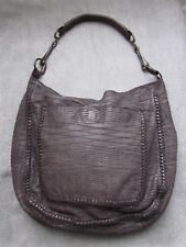RaRe $388 AllSaints REPTILE HoBo Shoulder Bag Slouchy Brown/Olive Taupe Leather