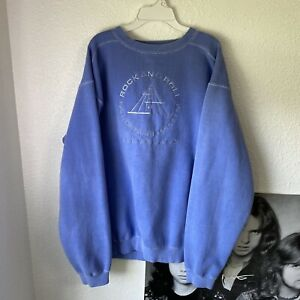 vintage crewneck sweatshirt rock and roll hall of fame 90s XL