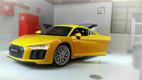 AUDI R8 V10 1:24 Scale Diecast Model Toy Car Miniature YELLOW