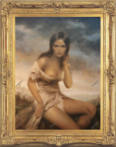 Old Master Art Nude Lady Woman Oil Painting Broken Silence Canvas Unframed 24x30