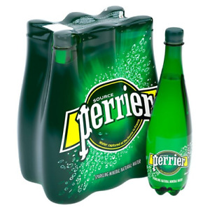 Perrier Sparkling Natural Mineral Water 6x 1Ltr Expiry Date 2nd June 2021 IMPORT