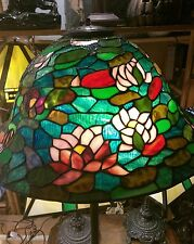 stained glass floor lamp. stained glass light. tiffany style shade