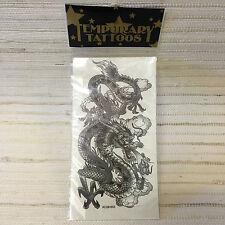 TATTOO-Temporary Tattoo FIRE DRAGON.SERPENT--NEW~REALISTIC.BUY 1GET--1FREE-SKU07