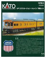 Kato N Scale 10706-4 Union pacific Railroad UP Excursion Train 7 Cars 10-706-4
