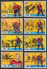 Lot of 13 1968 Montreal Canadiens Signed Topps O Pee Chee OPC Cards 6 HOF'ers!