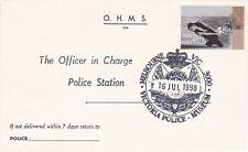 APF034) Cover Australia 1998, Police Museum Cancellation, 16/7/98, price $5.00