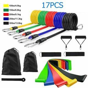 17 PCS/Set Fitness Latex Resistance Bands for Training Exercise Yoga Pilates