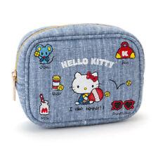 SANRIO HELLO KITTY EMBROIDERY COSMETIC MAKEUP BAG 449814