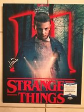 Millie Bobby Brown Signed Stranger Things 16x20 Mounted Canvas Beckett WJ16668