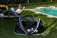 Travel Dome Cot Portable Baby Camping Portacot Babe Care Black Foldable Bed Crib