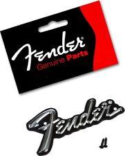 FENDER® STANDARD AMPLIFIER GUITAR AMP LOGO PLATE BLACK/SILVER *NEW* 099-4094-000