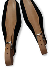 Tan Leather Brown Velvet Delux Italian Accordion Straps 304a Italcinte BackStrap