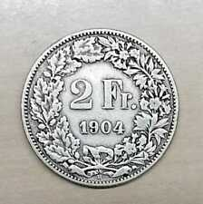 Schweiz 2 Franken Silber schön  (Wählen Sie unter: 1875 bis 1922)