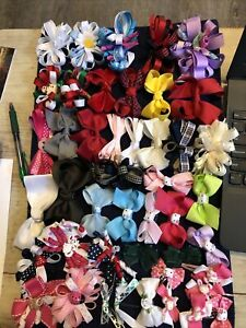 Lot of 45 Pieces Larger Hair Bows Girls Curly Barrette Holiday Hello Kitty