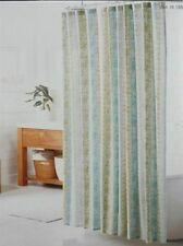 Threshold Fabric Shower Curtain Green Stripe 72x72