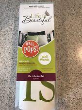 New listing Life is Beautiful Wall Art Kit Wall Decal Sticker - 17x10