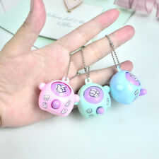 6Pc Finger-Guessing Keychain Rock Paper Scissors Play Toy Kids Key Ring Pendant