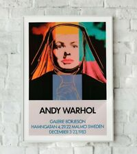 More details for andy warhol print, andy warhol exhibition poster, swedish exhibition poster,