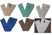 $350 Ralph Lauren Purple Label Mens Flat Front Cotton Casual Dress Pants New