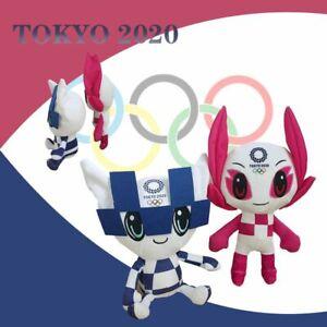 Tokyo Olympics Games 2020 2021 Mascot Miraitowa Official Doll Anime Plush Toy