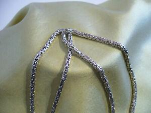 lange massive königskette 925 silber weissgold vergoldet. 56cm.lang
