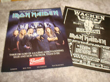 """IRON MAIDEN 2008 2 ads for """"Three Decades"""" and for """"Wacken"""" sold out shows"""