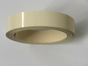 Ivory Gloss Edging Tape, 5m x 22mm, Pre-Glued Iron On