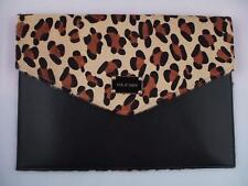 NWT ST. JOHN Knits Leopard Printed Calf Hair Envelope Clutch Handbag $545