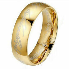 Fashion Jewelry Cheap Rings Size 7 Smooth Mens Ring Womens Band Ring Gold