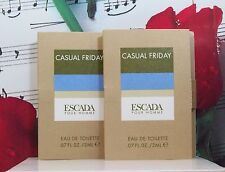 Casual Friday EDT Sample Vials 2 x 2ml. = 4mm Tatal By Escada