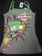 New Juniors Small Invader Zim I Love Cupcakes Dog Suit Gir Tank Top Shirt