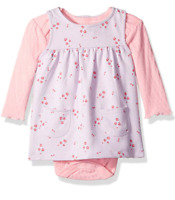 BON BEBE Baby Girls' 2 Pc. French Terry Tagless Jumper Set with Bodysuit- 3-6mo